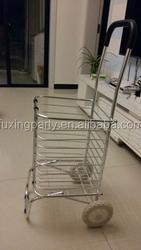 2016 hottest shop cart aluminium customerlized foldable shopping cart trolley