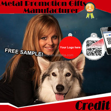 high quality metal pet id medals for dogs with numbered contact with credit.mary
