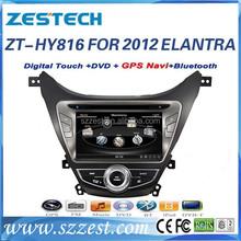 car gps dvd for hyundai elantra 2012 gps dvd with bluetooth radio A8 chipset FM AM ZT-HY816