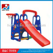 Outdoor kids swing and slide,Child Garden play set,Plastic toddler slider toy HC198128