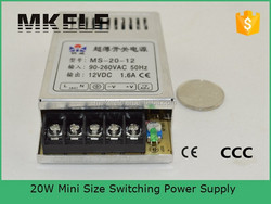 MS-20-15 single output 20W mini size led power adapter 15v