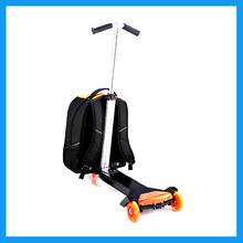 Kids backpack scooter luggage