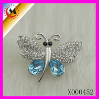 LATEST FASHION NEW DESIGN , BLUE CRYSTAL BUTTERFLY BROOCH