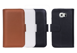 For S6 case, for Samsung S6 case, Wallet leather case for Samsung S6
