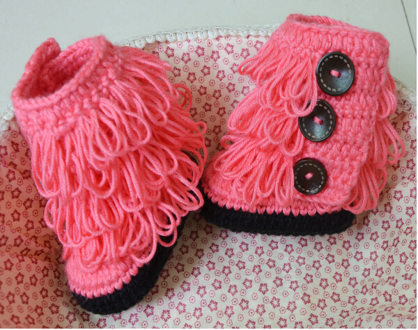 Crochet Baby Girl Boots Pattern : Wholesale Handmade crochet baby girls shoes crochet ...
