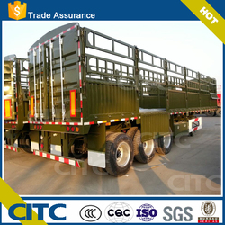 3 axles stake manufacture widely used store house bar semi trailer made in China