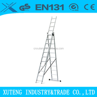 three section ladder step extender used for industry