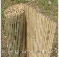 popular cheap roll up split bamboo fence for garden decoration