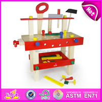 New and popular wooden tool toy,colorful DIY wooden toy tool set toy for children,pretend toy wooden tool toy for baby W03D012-Z