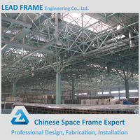 Professional design, fabric and install steel space frame structural flat roof