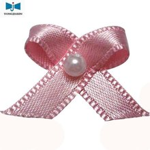 pink satin ribbon bow for ornament