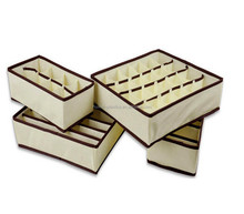China Wholesale Drawer Dividers Closet Organizers Bra Underwear Storage Boxes with Lid