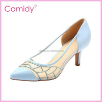 2015 new fashion European and American style women transparent pointy shoes with high heels
