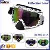 BJ-MG-013A Manufacturer Adult Reflective Beard Frame custom racing motorcycle goggle