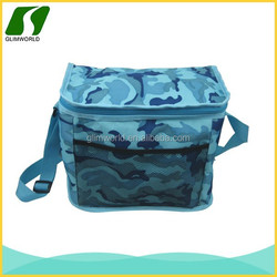 Customed tote hand lunch bag with side bottle pocket