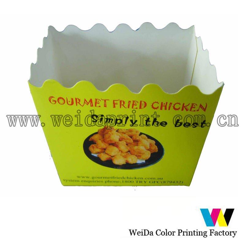 Caixa de embalagem de alimentos para frango frito