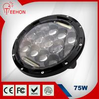 Factory supply 75w 7 inch round led headlight 12v 24v for Jeep light