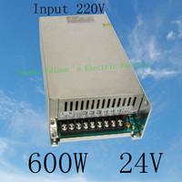 led power supply switch 600W 24v 25A ac dc converter input 220V S-600w 24v switching power supply 25A s-600-24