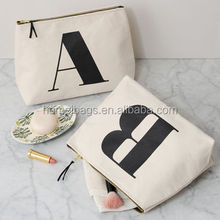 Initial Wash Bag Natural by ALPHABET BAGS
