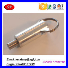 Factory customized aluminum pull lock pin,collar pins with cross hole
