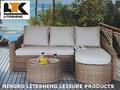 Pe ratán pequeña muebles de exterior / jardín / salón / té / mesa de sofá Set