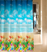 Printed shower curtain liners,PEVA shower curtain,Sea shower curtain