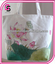 2014 Artistic ECO Chinese painting canvas shopping bag