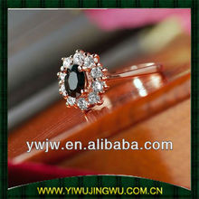 2014 crystal diamond 2 gram gold ring for lady