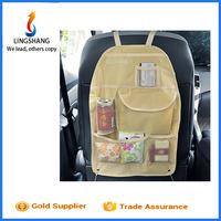 Wholesale car back seat organizer bag hanging travel storage bag multi - pockets car back seat bag