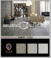 rustic gray glazed cement porcelain floor tile for bathroom and kitchen