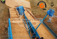 Gold mining portable dredge equipment used to gold concentration
