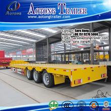 tri axle flatbed semi trailer for heavy duty with parabolic leaf spring suspension (ladders optional)