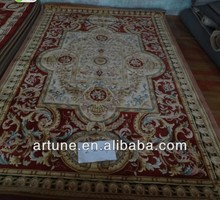 2015 fashion hand carved underlay wool carpet and rug
