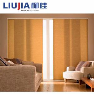 Protector solar interior cortina corredera paneles ciegos, Oficina cortinas y persianas