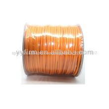 Totalidades corea del cordón de algodón encerado, de color naranja cadena de cera para la fabricación de joyas