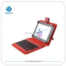 7''-10'' colored tablet case universal bluetooth keyboard with removable clip