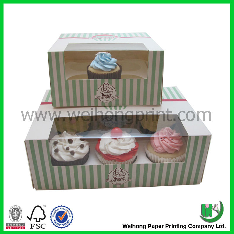 Custom cup cake boxes wholesale in China