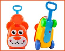 Newest design animal children luggage colorful 3 in 1 plastic kids mini suitcase