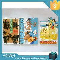 Top grade promotional custom pvc madrid souvenir fridge magnet