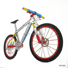 Top selling still life bicycle wall art picture for bedroom