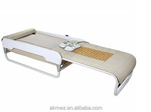 FOLDING MASSAGE BED SOFA jade roller thermal jade massage bed 3D Luxury Jade Massage Bed with Intelligent Spine Scanning White