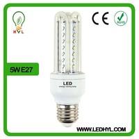 White home lighting 5w e27 base u shape 100lm/w energy saving product