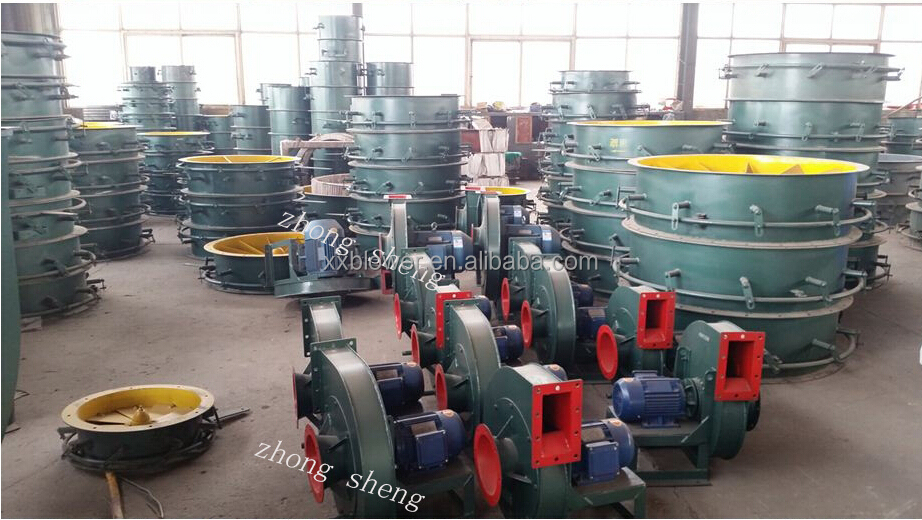 Abrasion Resistant Coal Gas Boosting Conveying Fan With AC 3Phase Motor
