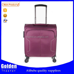 2015 carry-on travel trolley luggage polyester cabin luggage and luggage bag