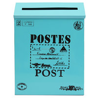 Overvalue Metal Letter Box Wall Mounted Post Mail Box Mailbox Postbox Letterbox