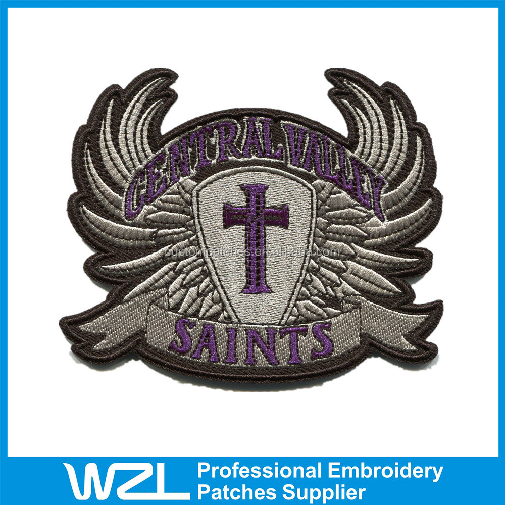 High quality embroidered patches custom iron on
