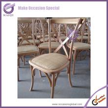 K5032 Wedding wooden rental cross back chair