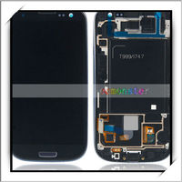Digitizer Touch Screen + Display LCD Screen wit Frame for Samsung Galaxy S3 T999 / i747 Blue