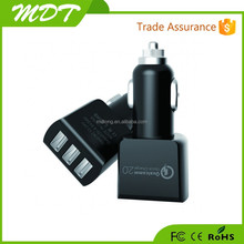 Newest hot sale quick charge 2.0 promotional 3 USB car charger for Samsung/Apple