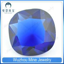 Top Quality Fertilizer square navy blue Glass gemstone on sale